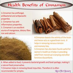 Natural Cures Not Medicine: Cinnamon, For Your Health?