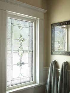 Leaded Glass Window - frosted glass, for a bathroom