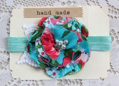 Baby Girls Toddler Hair Flower Headband Mint by TheSnootiePig, $12.00