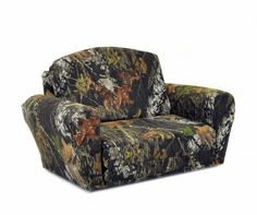 """Mossy Oak """"Break-Up"""" Camouflage Pull-Out Sleepover Sofa (Camouflage Pattern) (20.5""""H x 35""""W x 23""""-48""""D) $160.00 (33% OFF)"""