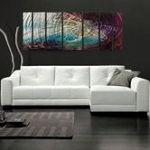 "Found it at Wayfair - Abstract by Ash Carl Metal Wall Art in Gray Multi - 23.5"" x 60"""