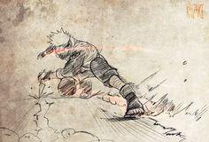 Sharingan Kakashi by kanzzzaki on DeviantArt Naruto Shippuden, Sharingan Kakashi, Naruto E Boruto, Kakashi Sensei, Anime Naruto, Naruto Art, Manga Anime, Naruto Drawings, Anime Rules
