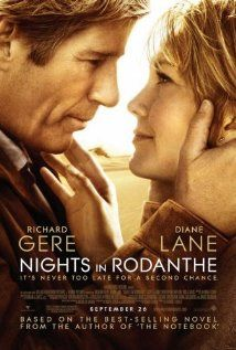 """289 Days of Romantic Films:Till Valentines:...NIGHTS IN RODANTHE... Another Nic Sparks novel suffers from so-so script adaptation & a director who has to lean on the actors. LOVE STORY AD BAD MEDICINE..Diane Lane carries this Rom-Drama, 3rd act is hers. QT:""""..there's another kind of love...one that gives you the courage to be better than you are, not less than you are. One that makes you feel that anything is possible. I want you to know that you could have that. I want you to hold out for it."""""""