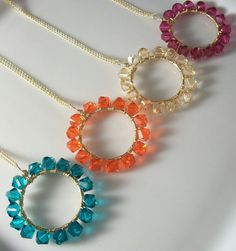 Round Swarovski Crystal Necklace