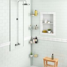 Rebrilliant Alivia L Shape Corner Shower Caddy Mold In Bathroom, Zen Bathroom, Budget Bathroom, Master Bathroom, Bathroom Ideas, Bathroom Showers, Bathroom Remodeling, Simple Bathroom, Bathroom Designs