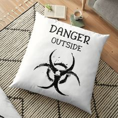 DANGER outside !! Get yourself a unique cool  custom desing from RIVEofficial Redbubble shop : )).... tags: #coronavirus #corona #COVID #disease #lockdown #danger #dangeroutside #stayhome #washhands #blackandwhite #corona2020 #keepcalm #isolation #findyourthing #shirtsonline #trends #riveofficial #favouriteshirts #art #style #design #shopping #redbubble #digitalart #design #fashion #phonecases #customproducts #onlineshopping #accessories #shoponline #onlinestore #shoppingonline Diy Pillows, Floor Pillows, Throw Pillows, Pin Pin, Bed Styling, Home Decor Items, Online Shopping, The Outsiders, Custom Design