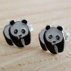 WWF Panda Earrings - Sterling Silver Post Earrings