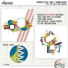 Paper Play #04 | Templates for Digital Scrapbooking