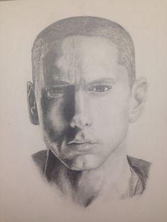 Portrait of Eminem  Slim shady Marshall Mathers