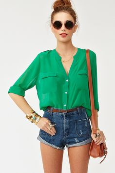 Kelly Chiffon Blouse in Clothes Tops Shirts + Blouses at Nasty Gal