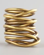 Kelly Wearstler Twisted Brass Ring. Creative. Chic. Fun.