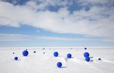 Lita Albuquerque, Southern Cross from Stellar Axis: Antarctica, Ross Ice Shelf, 2006. Photo by Jean de Pomereu.