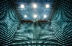 These 9 m-high spike-lined walls enclose the hushed interior of ESA's Maxwell test chamber, which isolates satellites from all external influences to assess their electromagnetic compatibility.