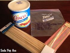 Emergency Crisco Candles via Soda pop ave