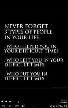 1st one always with u  2nd one runners 3rd one troublemaker  panoti ppl ....
