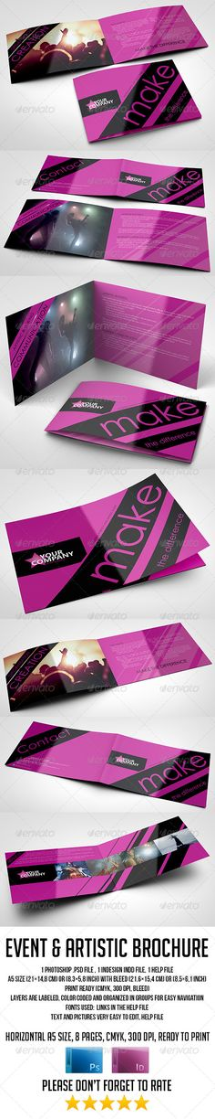 A5 8 Pages Event and Artistic Brochure Official website : http://thats-design.com/
