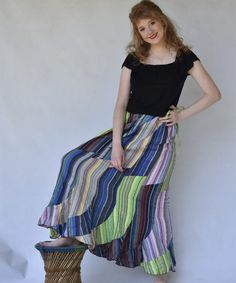 A kaleidoscope of patchwork colours to brighten up your closet Hippie Clothes Online, Hippie Clothing Stores, Online Clothing Stores, Boho Skirts, Hippie Outfits, Summer Outfits, Colours, Closet, Stuff To Buy