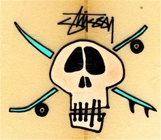 Skateboard Tattoo, Skate Tattoo, Skateboard Art, Stussy Wallpaper, Stussy Logo, E Skate, Love Is My Religion, Skate And Destroy, Vintage Surf