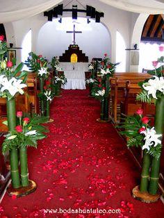 decoracin de iglesia con bambs ideal para tu boda en playa por bodas huatulco