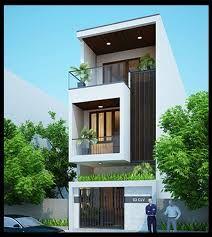 Imagen relacionada House Outside Design, House Front Design, Modern House Design, Narrow House Designs, Village House Design, Townhouse Designs, Home Building Design, Dream House Exterior, House Elevation