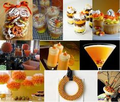 candy corn poms, lots of ideas on this site