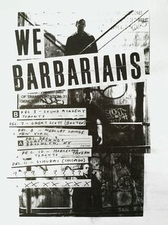 poster | We Barbarians #typography