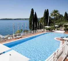 Lake Garda recommendation Hotel Villa Florida - sweet staff, great pool, beautiful views, and the best olive oil ever. Lake Garda, Olive Oil, Villa, Florida, Gallery, Sweet, Outdoor Decor, Travel, Beautiful