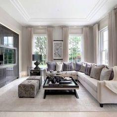 51+ Modern Living Room Ideas - Cream traditional modern living room