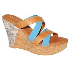 Beautiful Things. / Sandal strappy brown blue ||