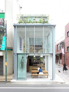 Soup Stock Tokyo is a minimal cafe space located in Tokyo, Japan, designed by Yuko Nagayama & Associates. Since the building is situated on a corner lot, the architects wanted to create a fully transparent and welcoming space that would bring the.