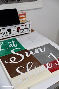 How to Make a Large Kitchen Sign Do It Yourself Projects, Cool Diy Projects, Creative Crafts, Diy Crafts, Kitchen Signs, Easy Woodworking Projects, Paint Schemes, Decorating Blogs, Diy Home Decor