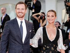 Sweet Couple Michael Fassbender and Alicia Vikander Are All Smiles at the Venice…