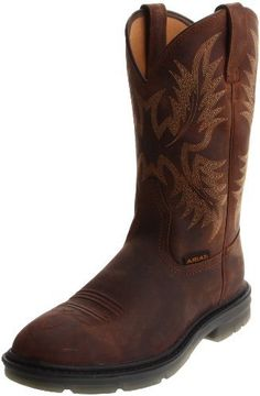 Ariat Men's Maverick ll Boot Ariat. $149.95. Ninty degree heel. leather. Six-row stitch pattern. Rubber sole. Oil and slip resistant
