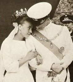 Princess Claude of Orléans (born 1943), at her wedding to Prince Amedeo of Savoy, Duke of Aosta on July 22, 1964