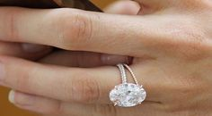 Blake Lively Oval Engagement Ring Oval Moissanite & Diamonds Engagement Ring 18kt Yellow Gold Blueriver47 Etsy Fine Jewelry Birthday Gift on Etsy, $5,700.00