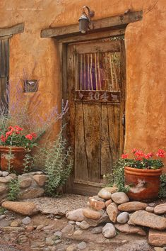 Mexico Style, Mexico Art, New Mexico Homes, Desert Art, Desert Colors, Cool Doors, Unique Doors, Mexico Culture, Adobe House