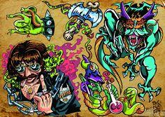 Daniele Pasquetti- Rettili e Corna (mail:danielepasquetti1@gmail.com) #metal #heavymetal #tattoo #dragon #snake #axe  #magicalpotion #witchcraft