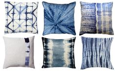 Shibori decorative pillows