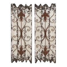 Woodland Imports 2-Piece 11-In W X 32-In H Frameless Wood Abstract Scu