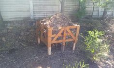 Old crate recycled into conpost station