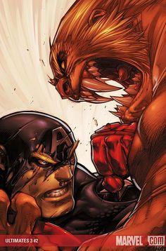 Captain America vs. Sabretooth ~ Pencils & Cover by JOE MADUREIRA & CHRISTIAN LICHTNER