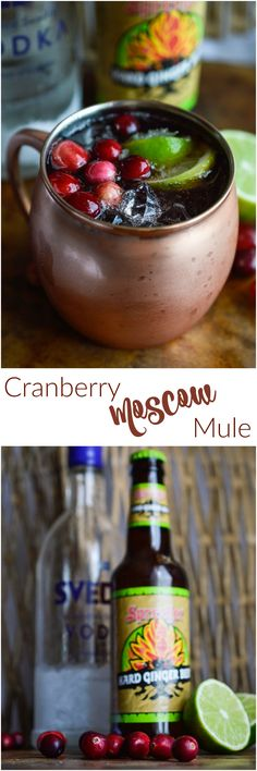 This Cranberry Moscow Mule is the perfect holiday cocktail! Thanksgiving and Chr… This Cranberry Moscow Mule is the perfect holiday cocktail! Thanksgiving and Christmas with the family just got a little easier. Thanksgiving Cocktails, Holiday Cocktails, Moscow Mule Recipe, Beer Recipes, Drink Recipes, Summer Drinks, Fancy Drinks, Savoury Dishes, Cocktail Recipes