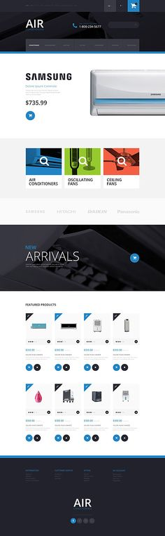 Air Conditioning Online Store #OpenCart #webtemplate #themes #business #responsive #template