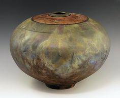Matte 292 Raku Vessel: Ron Mello: Ceramic Vessel   Artful Home