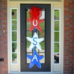 Door Hanger Patriotic Decor 4th of July Summer by LooLeighsCharm