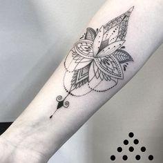 Ornamental lotus flower by Angelika Ferrous