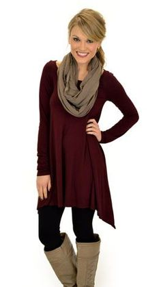 Taking Flight Tunic, Wine :: NEW ARRIVALS :: The Blue Door Boutique
