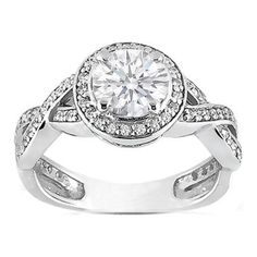 Platinum Round Diamond Vintage Intertwined Engagement Ring.  Can I get engaged all over again??!!