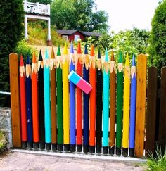 over sized pencils garden ideas - Yahoo Image Search results