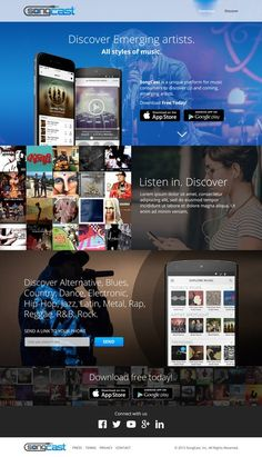 Create Stunning Landing Page for SongCast by nlutf